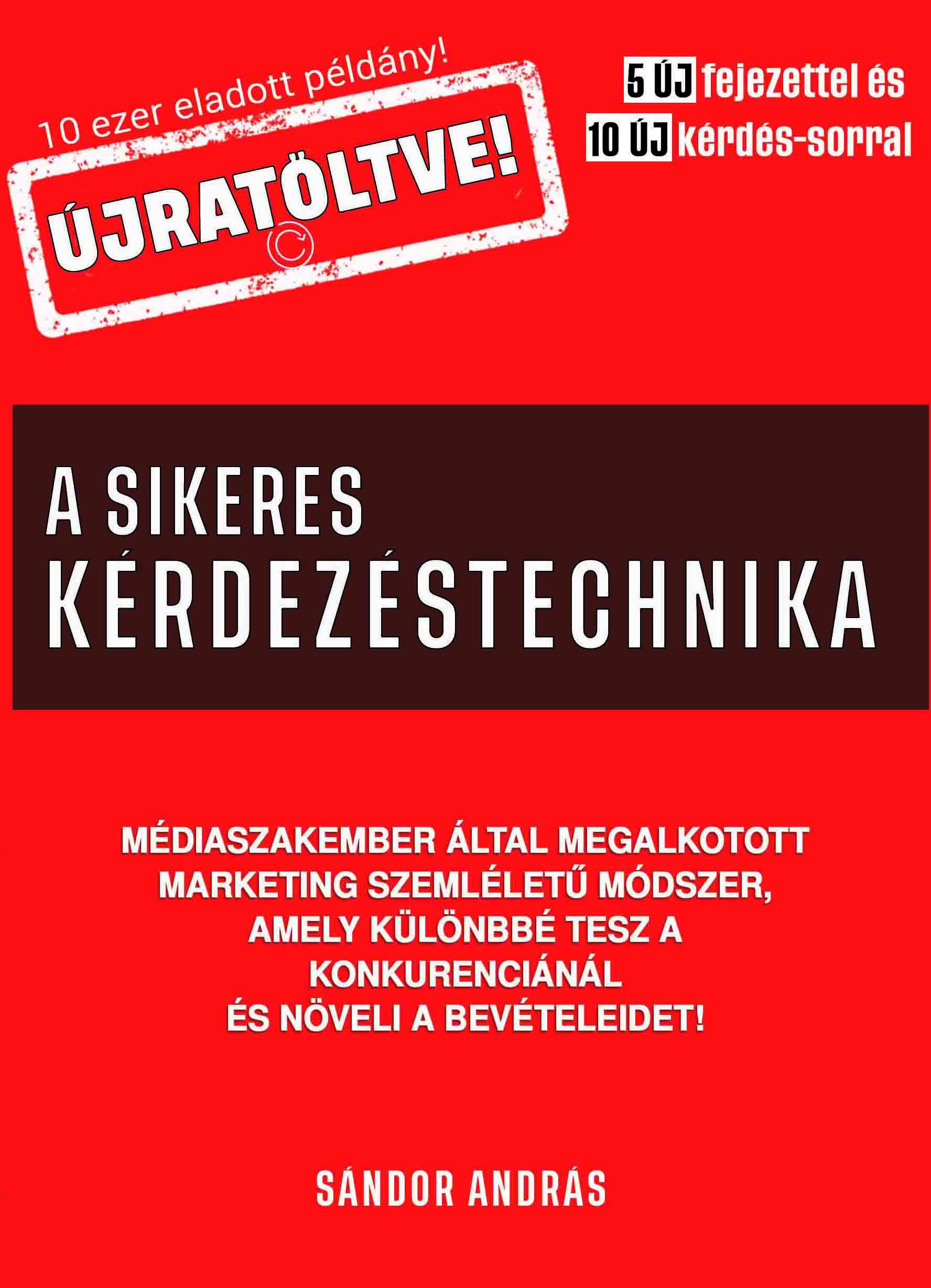 Sándor András: A sikeres kérdezéstechnika értékesítőknek ÚJRATÖLTVE